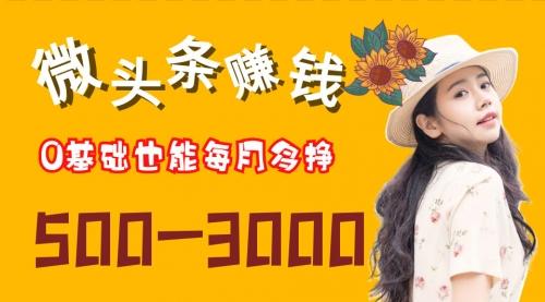 8月15日直播《微头条0基础赚钱系统课 每月多挣500-3000零花钱》